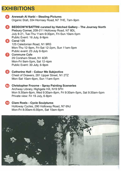 Islington Exhibits 2013 programme insert 2