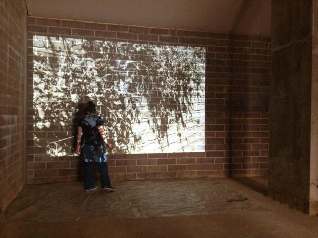 This is me putting together a projection based installation