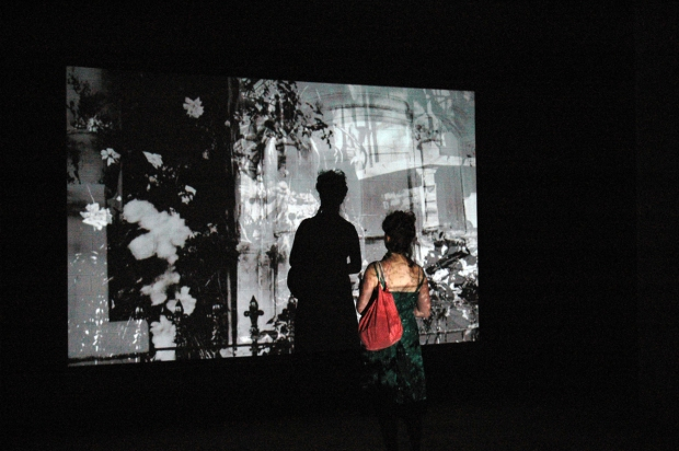 Chasing Shadows - time based projection installation