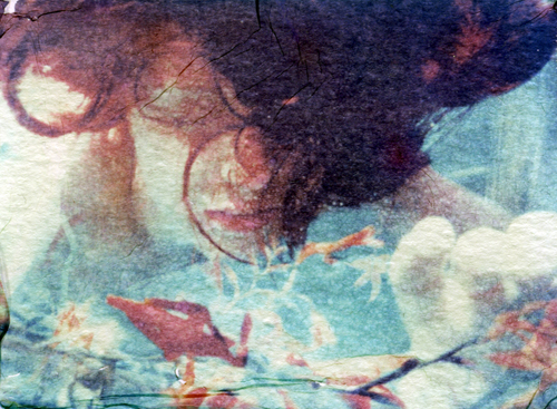 Ophelia #1 - Polaroid emulsion lift
