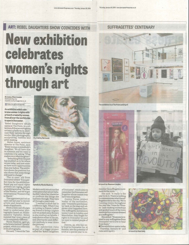Rebel Daughters Doncaster Free Press 18 Jan 18